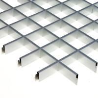 "Грильято 100х100мм элемент решётки ""папа"" L=600мм, h=40мм, метал. серебристый"