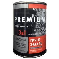 Грунт-эмаль 3 в 1 АЛКИДНО-УРЕТАНОВАЯ (АУ-1156) чёрная глянц. (1 кг)