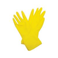 Перчатки латексные Biber 96271 с х/б напылением, размер S