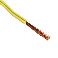 Провод ПВ-3 (ПуГВ) 1х10 мм2, желто-зеленый (1 п.м.)