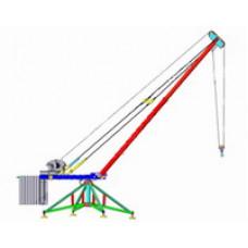 Кран разборный стреловой поворотный КРСП-0,5, г/п 0,5т, Н=50м 001-0105
